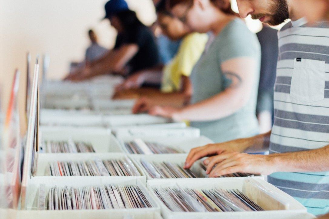 selecting vinyl