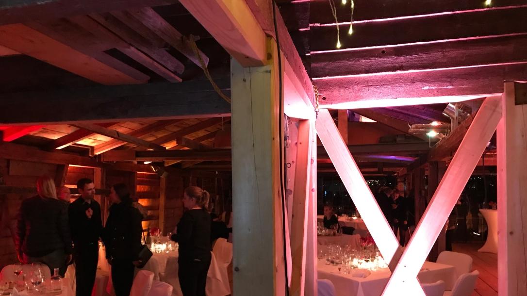 Abendessen im Bootshaus